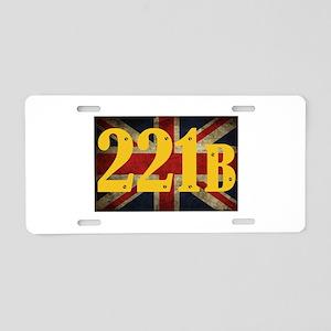 221B Flag Aluminum License Plate