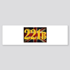 221B Flag Bumper Sticker