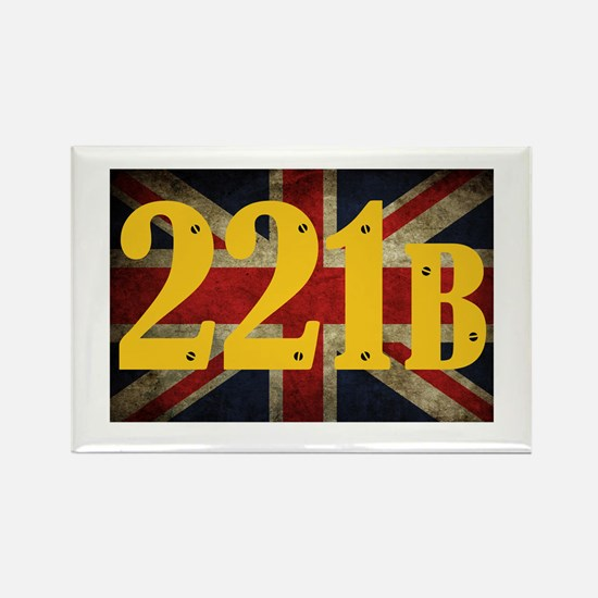 221B Flag Rectangle Magnet