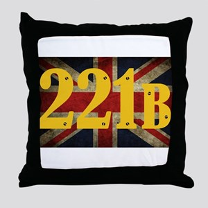 221B Flag Throw Pillow