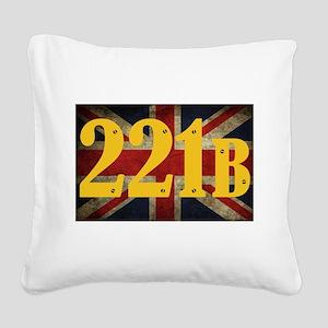 221B Flag Square Canvas Pillow