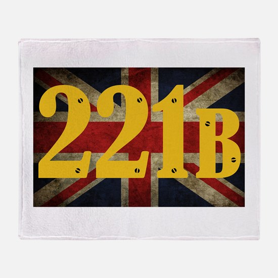 221B Flag Throw Blanket