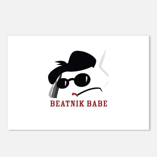 Beatnik Babe Postcards (Package of 8)