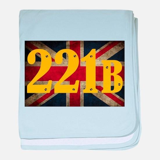 221B Flag baby blanket
