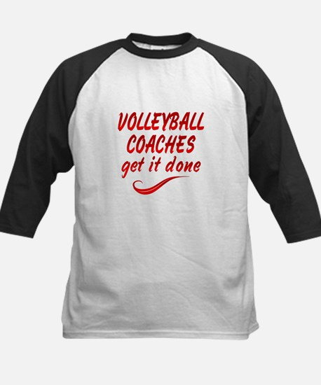 Volleyball Coaches Kids Baseball Jersey