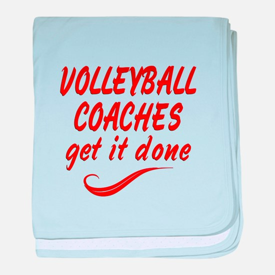 Volleyball Coaches baby blanket