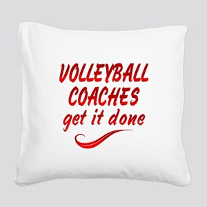 Volleyball Coaches Square Canvas Pillow