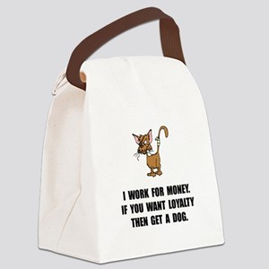 Work For Money Canvas Lunch Bag