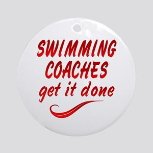 Swimming Coaches Ornament (Round)