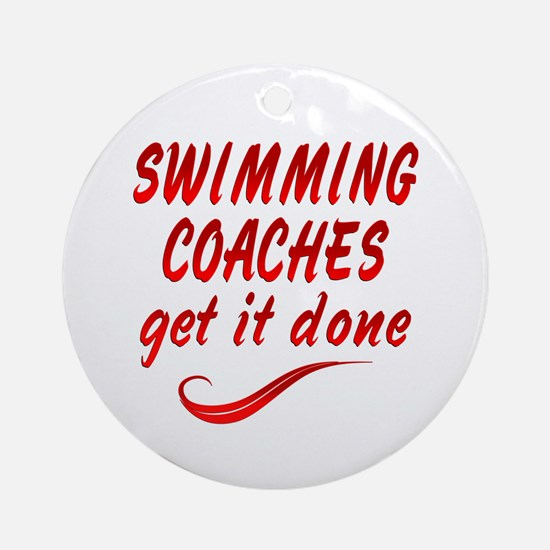 Swimming Coaches Ornament (Round)