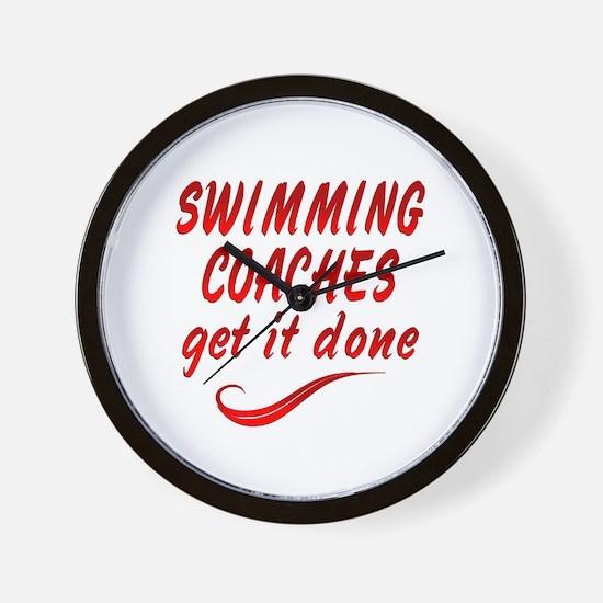 Swimming Coaches Wall Clock