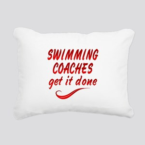 Swimming Coaches Rectangular Canvas Pillow