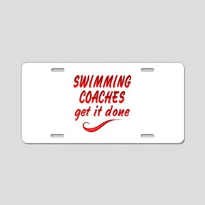 Swimming Coaches Aluminum License Plate