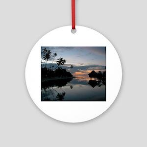 Tahiti Sunset Ornament (Round)