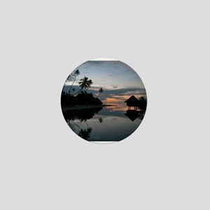 Tahiti Sunset Mini Button