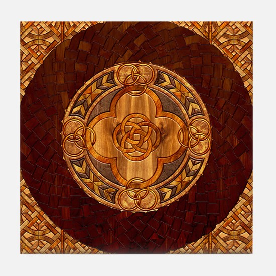 Harvest Moons Celtic Mandala Tile Coaster