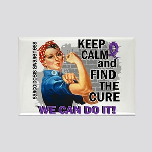 Rosie Keep Calm Stomach Cancer Rectangle Magnet