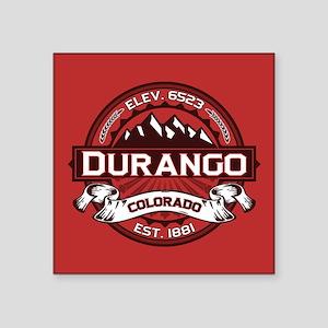 """Durango Red Square Sticker 3"""" x 3"""""""