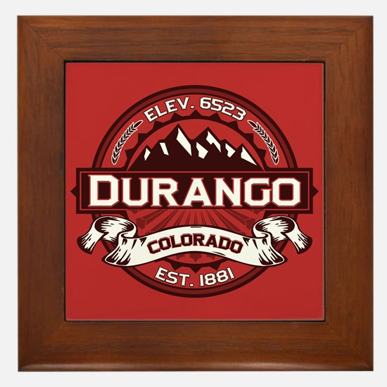 Durango Red Framed Tile