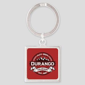 Durango Red Square Keychain