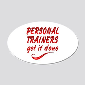 Personal Trainers 20x12 Oval Wall Decal