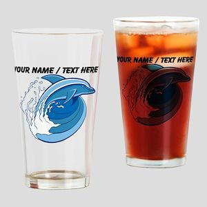 Custom Jumping Dolphin Drinking Glass