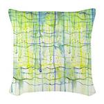 Electric Rain Abstract Woven Throw Pillow