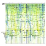 Electric Rain Abstract Shower Curtain