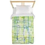 Electric Rain Abstract Twin Duvet Cover