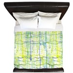Electric Rain Abstract King Duvet Cover