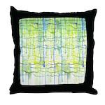Electric Rain Abstract Throw Pillow
