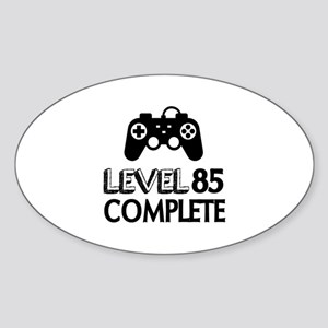 Level 85 Complete Birthday Designs Sticker (Oval)