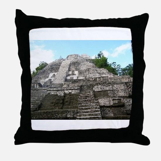 "Ancient Mayan Ruins ""Lumanai"" in Belize Throw Pill"