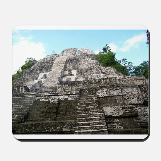 "Ancient Mayan Ruins ""Lumanai"" in Belize Mousepad"