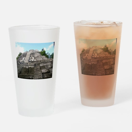 "Ancient Mayan Ruins ""Lumanai"" in Belize Drinking G"
