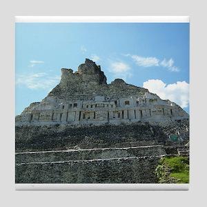 Xunanatunich Mayan Ruins in Belize Tile Coaster