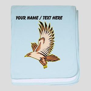 Custom Flying Falcon baby blanket