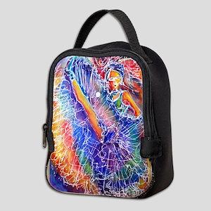 Show girl! Colorful art! Neoprene Lunch Bag