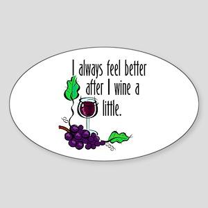 I Whine & Wine Oval Sticker