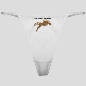 Custom Jumping Horse Classic Thong