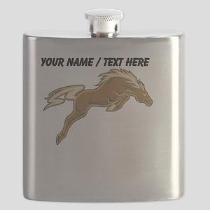 Custom Jumping Horse Flask