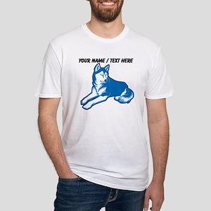 Custom Blue Husky T-Shirt