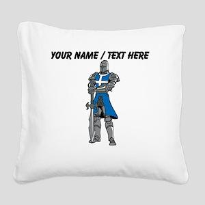 Custom Blue Knight Square Canvas Pillow