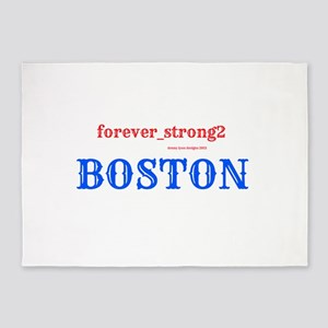 Boston Forever Strong 5'x7'Area Rug