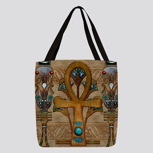 Harvest Moons Ankh Polyester Tote Bag