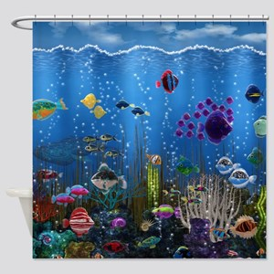 Underwater Love Shower Curtain