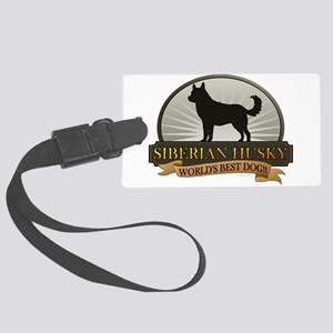 Siberian Husky Large Luggage Tag