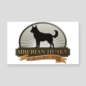 Siberian Husky Rectangle Car Magnet