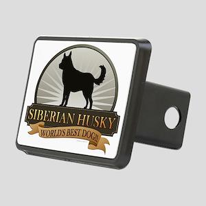 Siberian Husky Rectangular Hitch Cover