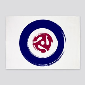 Mod Northern soul design with vinyl adaptor 5'x7'A
